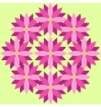 Purple flowers with green background vector image
