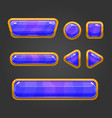 Set button in cartoon style -2 vector image