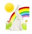 nature scene with rabbit made vector image