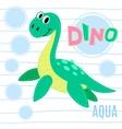 Water dinosaur vector image