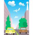 City traffic cartoon vector image