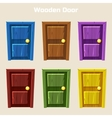 Cartoon Wooden Colorful Door vector image