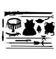 Collection of ancient arms vector image