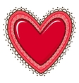 Glossy heart with lace edging vector image