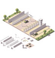 isometric border checkpoint vector image
