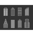 line buildings vector image