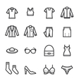 Women Clothing Icons vector image