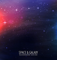 universe galaxy background vector image