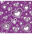 Pattern purple heart vector image vector image