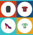 flat garment set of casual stylish apparel t vector image