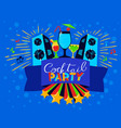 cocktail party lettering on banner disco clud vector image vector image