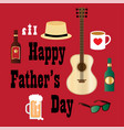 fathers day hipster dad vector image
