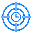 time target grunge icon vector image