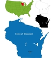 Wisconsin map vector image