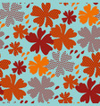 stylized autumn floral pattern vector image vector image