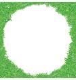 green grass frame vector image vector image
