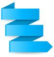 Blue paper arrow vector image