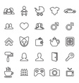 25 outline universal family icons vector image