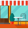 Background of street cafe vector image