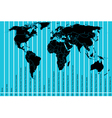 World map and time zones vector image vector image