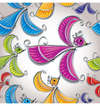 Colorful birds seamless pattern vector image vector image
