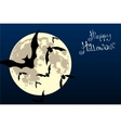 bats in the moonlight vector image