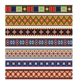 Colorful borders collection vector image