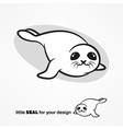 Cute white-coat seal vector image