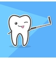 Healthy tooth makes selfie vector image