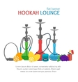 Hookah Lounge Banner vector image