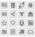 line communication icon set vector image