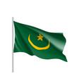 mauritania realistic flag vector image