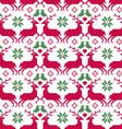 nordic seamless reindeer and birds vector image