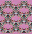 vintage floral colorful seamless pattern light vector image