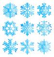 Watercolor snowflakes vector image
