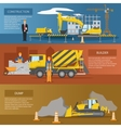 Construction Horizontal Banners Set vector image vector image
