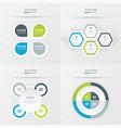 set of presentation design green blue gray color vector image