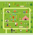 leisure in nature in a public park vector image