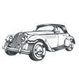 black and white of retro car vector image