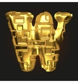 golden letter w vector image vector image