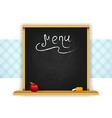 Wooden chalkboard for restaurant menu vector image vector image