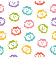 Seamless background with colorful lions vector image
