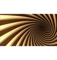 3d striped spiral abstract tunnel vector image