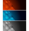 tech banners vector image vector image