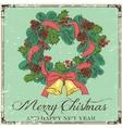Christmas card design vector image