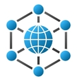 Global Web Nodes Gradient Icon vector image