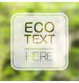 Abstract ecology background vector image