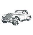 black and white of retro car vector image