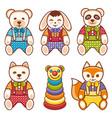 childrens animals ornament kid cute pet vector image