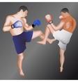 Kickboxers vector image